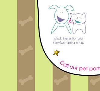 service area map warm fuzzies pet sitters llc